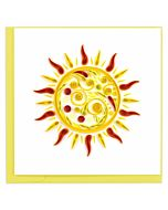 Quilling Card - Sun Greeting Card