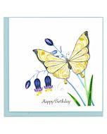 Quilling Card - Butterflies & Bluebells Birthday Card