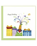 Quilling Card - Birthday Champagne
