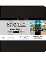 "Stillman & Birn Nova Trio Soft Cover White Square Mixed Media Sketchbook 7.5x7.5"""