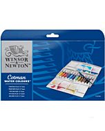Winsor & Newton Cotman Water Colour Painting Plus Tube Set of 12 8ml Tubes
