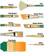 Princeton Series 4350 Lauren Golden Synthetic - Filbert - Size 4