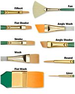 "Princeton Series 4350 Lauren Golden Synthetic - Stroke - Size 1/4"""