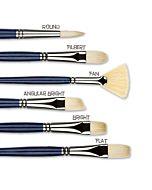 Princeton Series 5200 Ashley Interlocked Natural Chungking Bristle - Round - Size 8