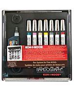 Koh-I-Noor Rapidograph 7 Pen Slim Set