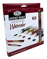 Royal & Langnickel Watercolor Painting Pack, 18 12ml tubes