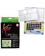 Koi Watercolor 36-Color Field Sketch Set with Water Brush