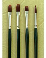 Silver Brush Ruby Satin Series 2501 Synthetic Bristle - Flat - Size 4