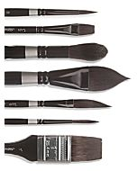 """Silver Brush Black Velvet Aquarelle 1-1/4"""""""