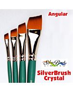 """Silver Brush Crystal Synthetic - Anglular - Size 1/2"""""""
