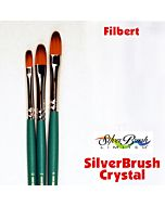 Silver Brush Crystal Synthetic - Filbert - Size 2