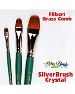 """Silver Brush Crystal Synthetic - Filbert Grass Comb - Size 1/2"""""""