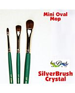 """Silver Brush Crystal Synthetic - Mini Oval Mop - Size 3/8"""""""