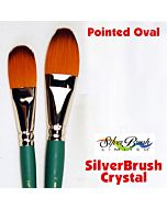 Silver Brush Crystal Synthetic - Large Oval - Size 3/4""