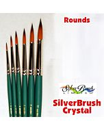 Silver Brush Crystal Synthetic - Round - Size 8