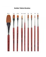 SoHo Urban Artist Brush - Long Handle - Golden Taklon - Flat - Size 6
