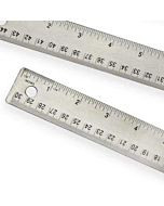 Steel Corkback Ruler 12""