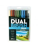 Tombow Dual Brush Pen 10 Color Lanscape Set