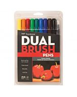 Tombow Dual Brush Pen 10 Color Primary Set