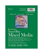 Strathmore 400 Series Toned Blue Mix Media pad - 6x8