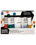Liquitex Basics Medium Texture Set 5 tubes 75ml