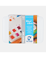 Van Gogh Watercolor Box-12 Half Pan Vibrant Colors Set