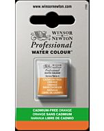 Winsor Newton Professional Watercolor - Half Pan - Cadmium-Free Orange